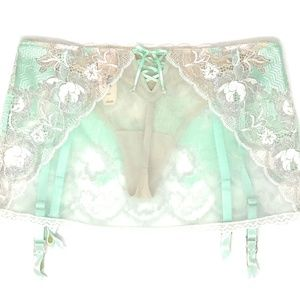 f71a5855e Victoria s Secret Intimates   Sleepwear - Victoria s Secret Crystal Mint  Garter Belt Panty